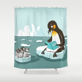 reading floe Shower Curtain