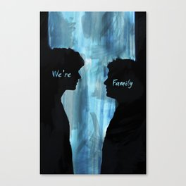 We're Family - Supernatural Canvas Print