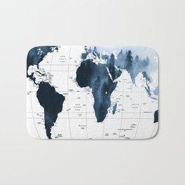 ALLOVER THE WORLD-Woods fog map Bath Mat