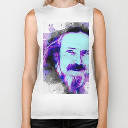 Alan Watts portrait Biker Tank