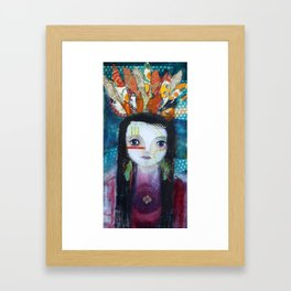 Indian Princess Framed Art Print