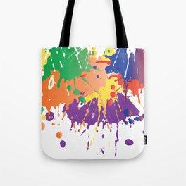 Colourful Paint splash Tote Bag