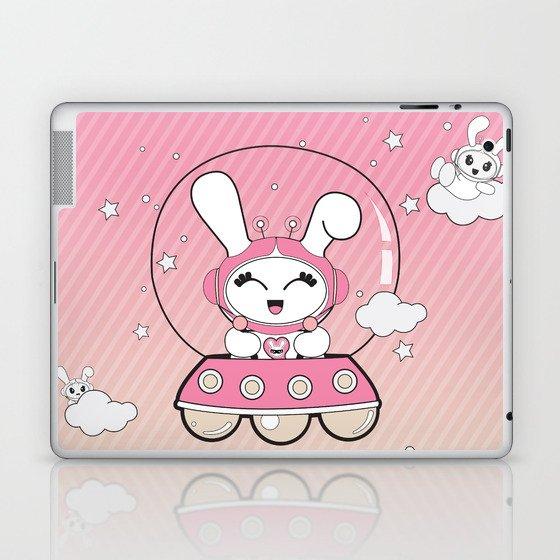 Space Bunny Flying Laptop & iPad Skin