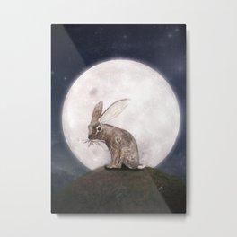 Night Rabbit Metal Print