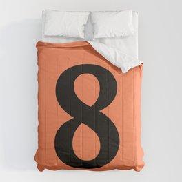 8 (BLACK & CORAL NUMBERS) Comforters