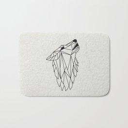 Geometric Howling Wild Wolf Bath Mat