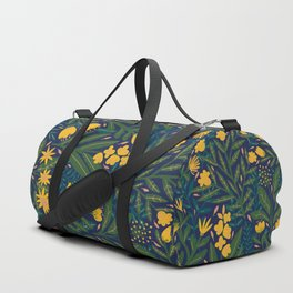 Golden flowers Duffle Bag
