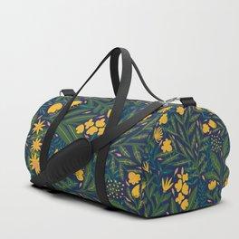 Golden flowers Duffle Bag