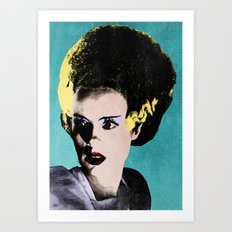 The Beautiful Bride of Frankenstein Art Print