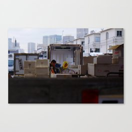 Beauty in the Fish market Canvas Print