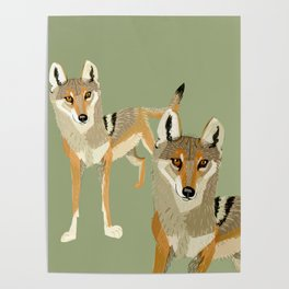 Totem Indian Wolf Poster