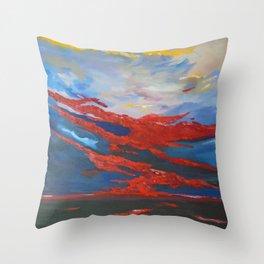 Sunset over the islands of Ireland Throw Pillow