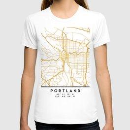 PORTLAND OREGON CITY STREET MAP ART T-shirt