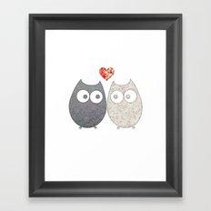 Owl Love Framed Art Print