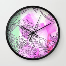 The Rose Party Wall Clock