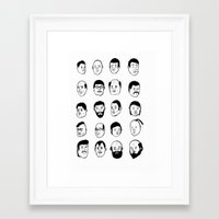 faces Framed Art Prints featuring Faces by David Penela