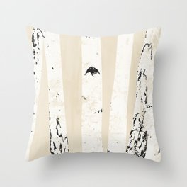 No60 Björk - Trees in black and white Throw Pillow