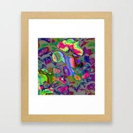 Neon Nature Framed Art Print