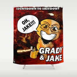 Grady & Jake Animated (Two of Two) Shower Curtain