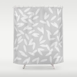 Falling Petals Grey Shower Curtain