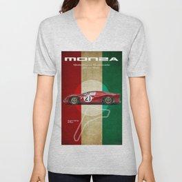 Monza Racetrack Vintage Unisex V-Neck