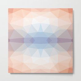 Abstract geometric pattern orange blue shades Metal Print