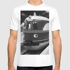 Alter Zug, old train MEDIUM Mens Fitted Tee White