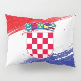 Croatia's Flag Design Pillow Sham