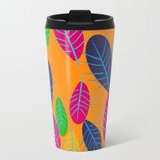 Fall Leaves Pop Pattern Design Travel Mug