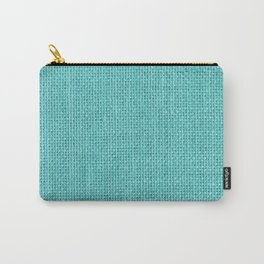 Natural Woven Aqua Blue Burlap Sack Cloth Carry-All Pouch