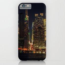 Photo Manhattan New York City USA megalopolis Night Skyscrapers Cities Megapolis night time iPhone Case