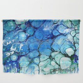 Blue Bubbles Wall Hanging
