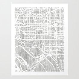 DC city print Art Print