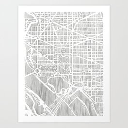 DC city print Art Print