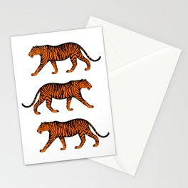 Tigers (White and Orange) Stationery Cards