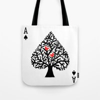ace Tote Bags featuring Ace of spade by Picomodi