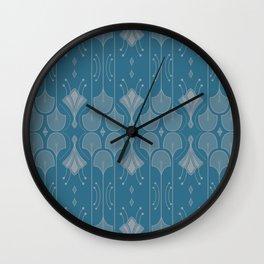 Art Deco Botanical Shapes Wall Clock