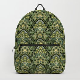 Green and Blue Paisley Backpack