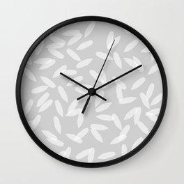 Falling Petals (grey) Wall Clock