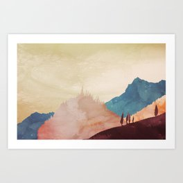 Abstract Mountainscape  Art Print