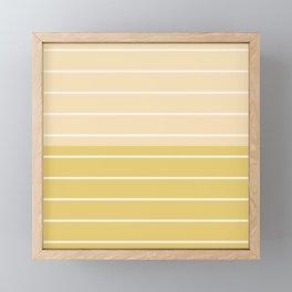 Two Tone Stripes - Yellow Framed Mini Art Print