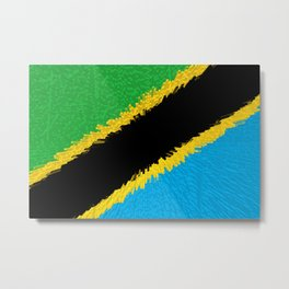 Extruded flag of Tanzania Metal Print