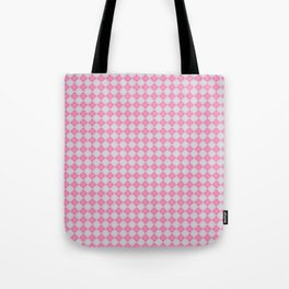 Argyle Pattern| Scottish Patterns | Pink and Grey | Tote Bag