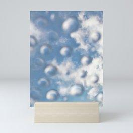Sky Bubbles #abstract #art #society6 #decor Mini Art Print