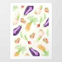 Cooking chaos | fresh vegetables Art Print