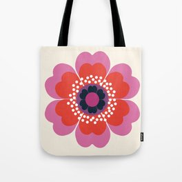 Lightweight - 70s retro throwback floral flower art print minimalist trendy 1970s style Tote Bag