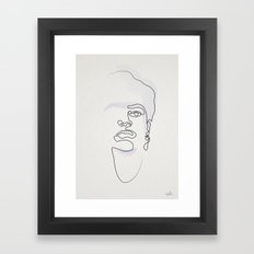 Half-a-Frida: One line Framed Art Print