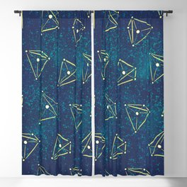 Tetrahedral Molecular Geometry Constellation Art Blackout Curtain