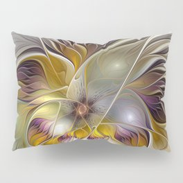 Abstract Fantasy Flower Fractal Art Pillow Sham
