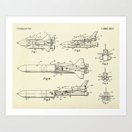 Space Shuttle-1975 Art Print